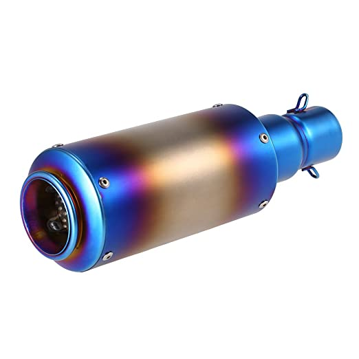 Acero inoxidable 38 - 51 mm escape Silenciador Burn azul Refit con ...