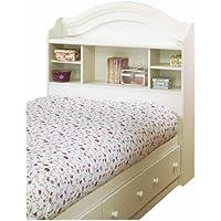 Summer Breeze Twin Bookcase Headboard (39) White Wash