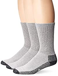 3f113dba531a4 Wigwam Men's At Work Sock - Cotton Blend Cushioned Crew - Grey, Large - 4