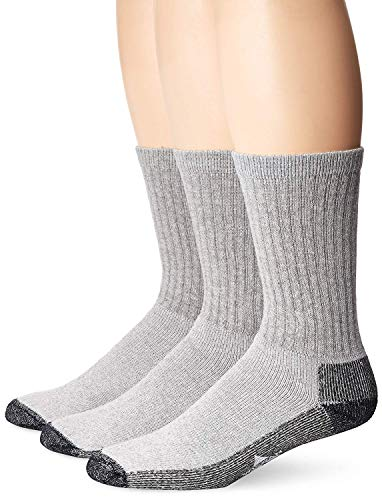 Wigwam Men's At Work 3 Pack Socks, Grey, Medium