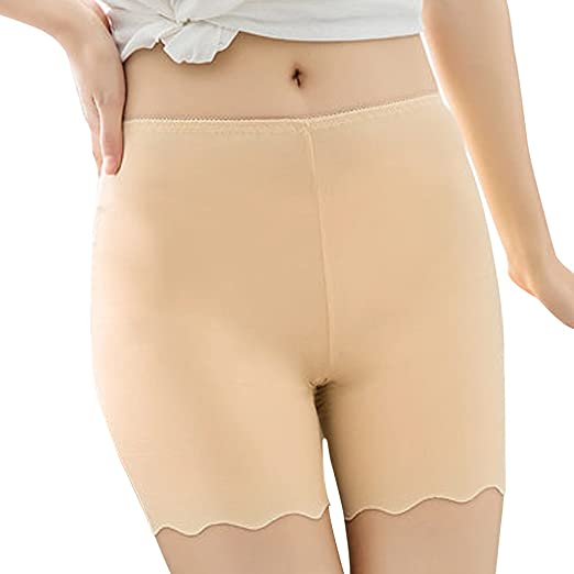 fe0372602cb7d Fakeface Women Sexy Short Seamless Leggings Boy Shorts Panties Tights Stretchy  Underwear Boyshorts Slipshort Beige