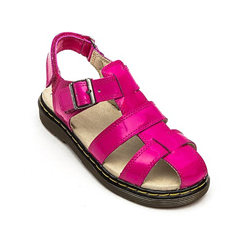 Dr Martens Sailor Junior Hot Pink Patent Sandals Hot Pink