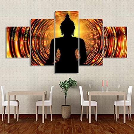 XYYAI 5 Cuadro sobre Lienzo Pintura sobre Lienzo Buda ...
