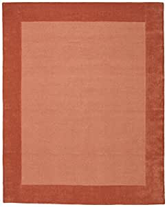 Stone & Beam Contemporary Mode Tone Wool Rug, 8' x 10', Rust