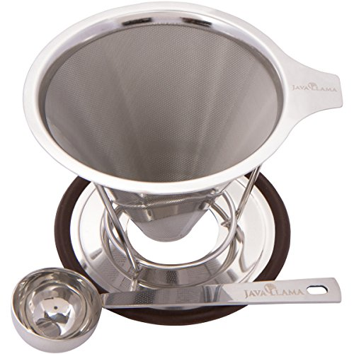 Java Llama Stainless Steel Pour over Coffee Maker (Haro Burr Coffee Grinder compare prices)