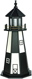 product image for DutchCrafters Decorative Lighthouse - Poly, Cape Henry Style (Black/White, 4)