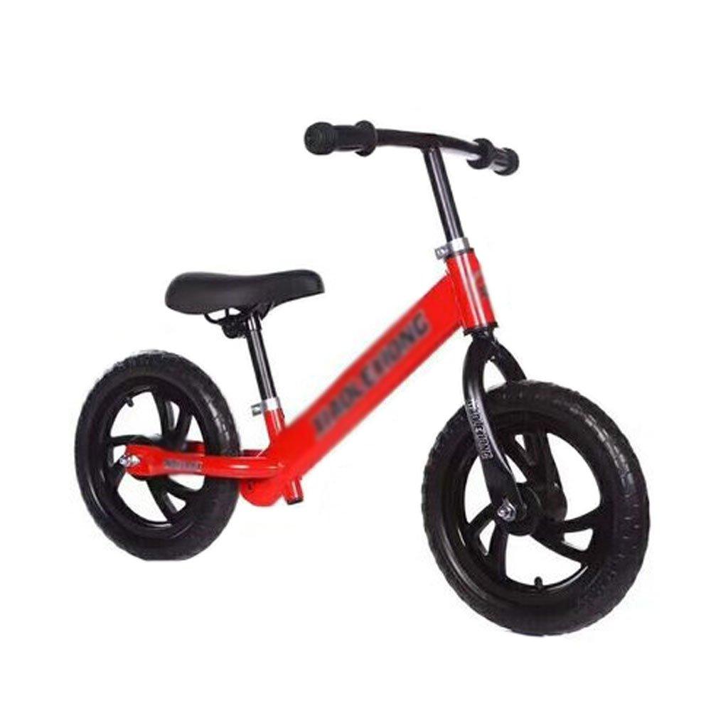 子供のスクーターペダルなしベビースクーターバギー子供ダブルホイール自転車子供スクーターベビースクーターなしペダル2輪スクーター2ラウンド2-8歳 B01M133XC5Red