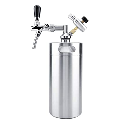 TOPINCN Mini Dispensador de Cerveza Set 3.6L Barril de Acero Inoxidable Portátil con Grifo Grifo