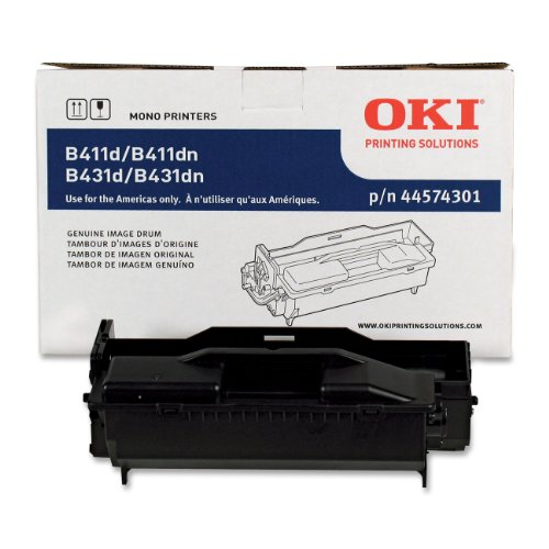 Series Black Image Drum - Okidata 44574301 Image Drum for B411/B431 Series Printers, 20000 Page Yield, Black