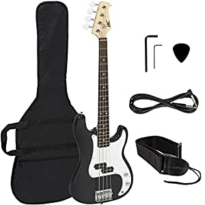 black electric bass guitar includes strap guitar case amp cord and more musical. Black Bedroom Furniture Sets. Home Design Ideas