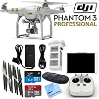 DJI Phantom 3 Professional Quadcopter Drone with 4K UHD Video Camera & CS Kit (17 Items) Basic Facts Review Image