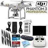 DJI Phantom 3 Professional Quadcopter Drone with 4K UHD Video Camera & CS Kit (17 Items)