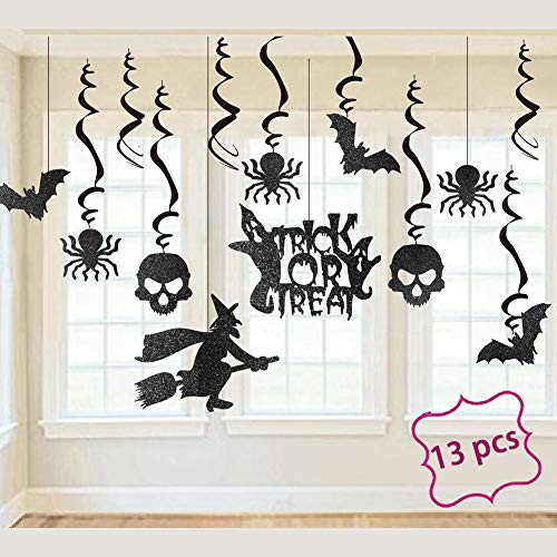 Halloween Swirl Ceiling Hanging Glitter Decoration Party Supplies