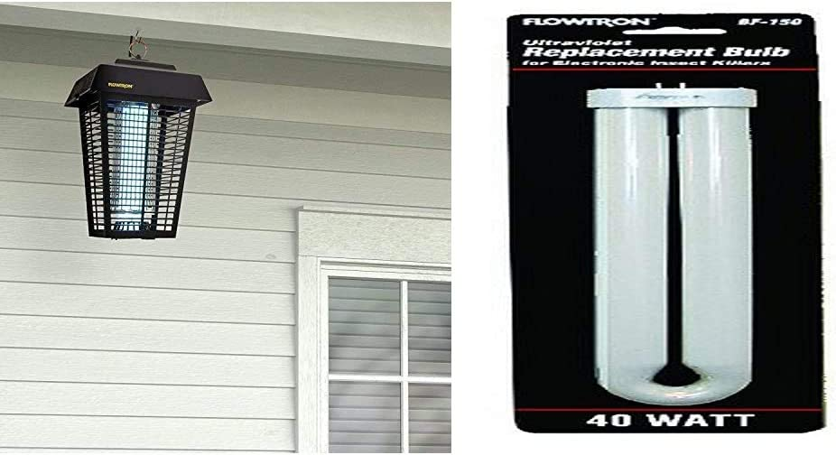 Flowtron BK-80D 80-Watt Electronic Insect Killer, 1-1/2 Acre Coverage & BF-150 Replacement Bulb for BK-80D, FC7600 and Wall Sconce Models