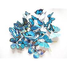 FirstDecor 24pcs 3D ViviD Special Lively Butterfly Art DIY Decor Wall Stickers Decals Nursery Decoration, Bathroom Décor, Office Décor, 3D Wall Art, 3D Crafts for Wall Art KiDs Room BeDroom