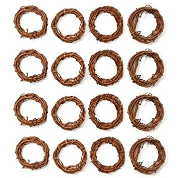 Darice Bulk Buy DIY Crafts Grapevine Wreath Natural 4 inches (12-Pack) GPV4