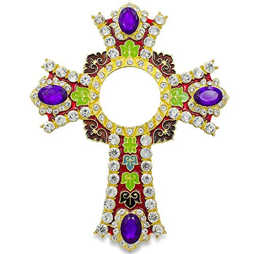 BestPysanky Jeweled Cross with Crystals Inspired Picture Frame 6 -