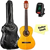 Protégé by Cordoba C1 3/4 Size Classical Guitar with Gig Bag, Tuner, and Polishing Cloth