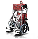 G&M Lightweight Aluminum AlloWheelchair Folding Lightweight Handcart Children 's Elderly Traveling Portable Aircraft Wheelchair , red