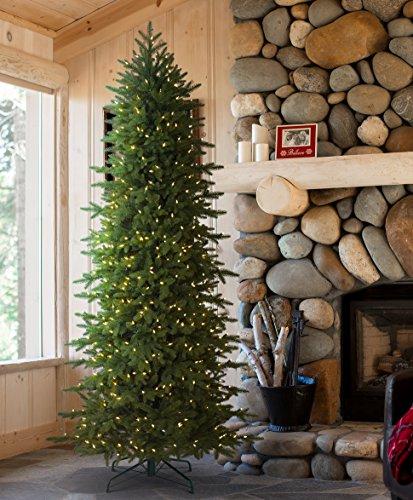 Tree Classics Oregonian Slim Artificial Christmas Tree, 7 Feet Prelit, Clear Lights