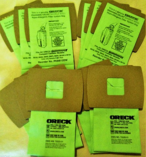 Genuine Oreck XL Buster B Canister Vacuum Bags PKBB12DW Housekeeper Bag 12 Pack Oreck Commercial Backpack