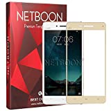 Netboon 3D Full Screen Cover Tempered Glass Screen Protector For Vivo V3 Max Gold, With 9H Hardness, Anti Blue