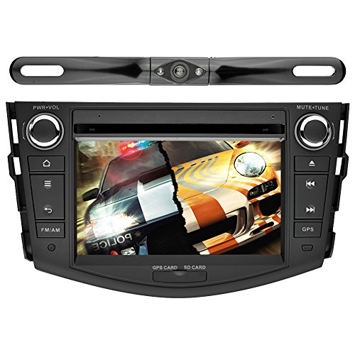 YINUO Android 5.1.1 Lollipop Quad Core 16GB 7 inch Touchscree Car DVD Player GPS Stereo for Toyota RAV4 2006-2012 In Dash Navigation AV Receiver support DVR SWC Wifi,+Rear View Camera