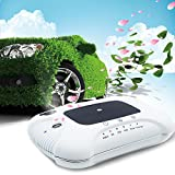 Bigrids Utility Car Air Purifier and Humidifier with Solar Panel, Touch Switch and USB Port, Also Used as an Aroma Diffuser, Easy to Use and Maintain, Rechargeable (White)