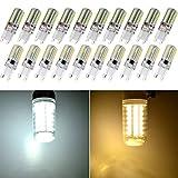 CCIYU G9 LED Bulb Dimmable Cool/White 6000K Bi-pin Base 3014SMD 64 LED Corn Bulb Energy Saving Lamp (Pack of 20 Pcs)