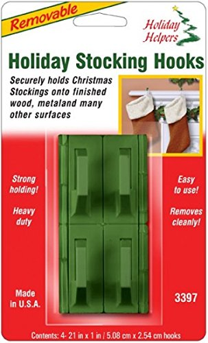 Magic Mounts Holiday Helpers : Green : 4 Pack : Removable Stocking Hooks : 3397 Magic Mounts @ WOWOOO