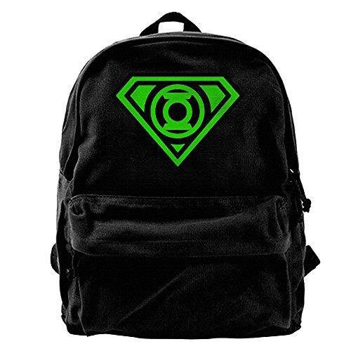 WSciA The Bing Bang Theory Sheldan Green Lantern Canvas Laptop Bag/Shoulder Bag/School Backpack