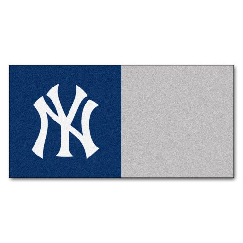 MLB New York Yankees Team Carpet Tile Flooring Squares, 20-PC Set -