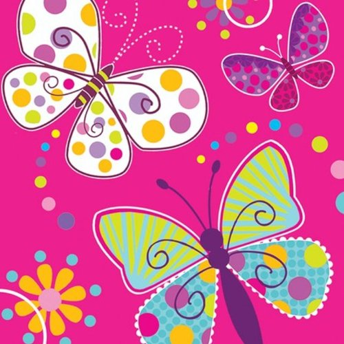 16-Count Paper Lunch Napkins, Butterfly ()