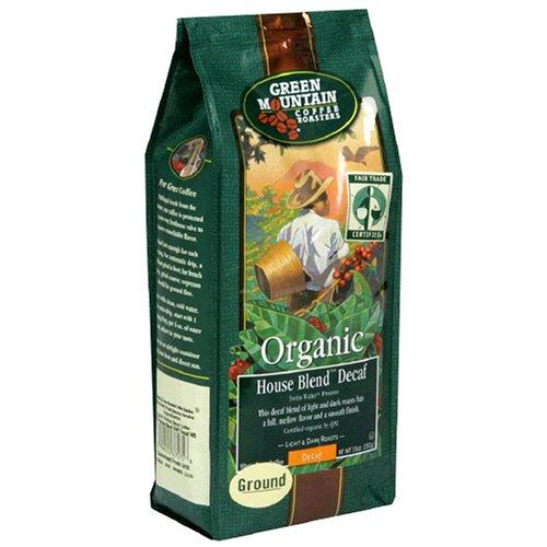 Green Mountain Coffee Decaf Straightforward Trade Organic House Blend, Whole Bean, 10 Ounce Bag
