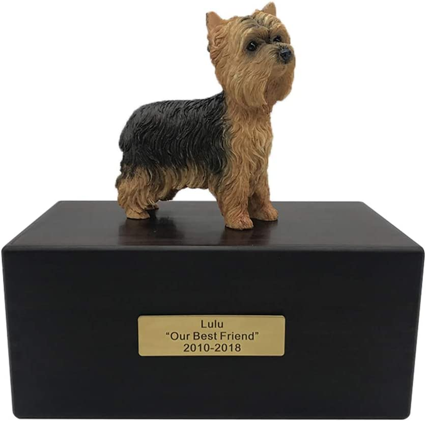 Dogs Statue Pet Casket Cremation Funeral Pet Died Ashes Urn Environmental Protection Color : Dachshund Souvenir Prestige Cats and Dogs Animal Coffin