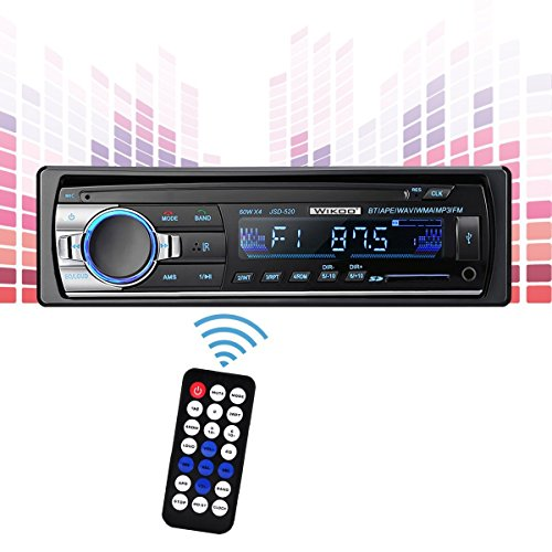 Single-Din Car Stereo, Wikoo Car Radio, Digital Media Receivers, USB/AUX/SD Card/FM Radio with Remote Control