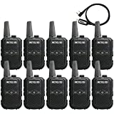 Retevis RT15 Two-Way Radio Rechargeable UHF 16 Channel VOX Scrambler Security Walkie Talkies with Charger 2 Way Radio Small (10 Pack)