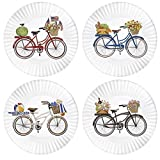 Mary Lake-Thompson Summer Bikes 9-inch Melamine Plates, Set of 4
