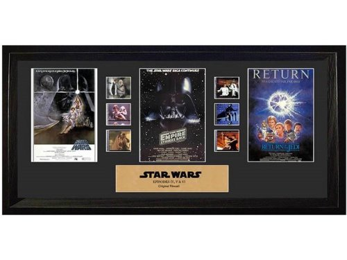 Trilogy Film Cell - Star Wars Episode IV, V, VI Mixed Trilogy Special Edition Film Cell