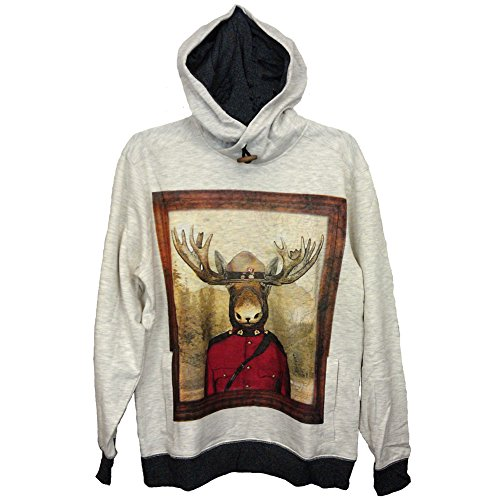 [Silver Lake Visually Challenging (Ugly) Hoodie, Sweatshirt, Mountie Moose (SMALL)] (Mountie Uniform)
