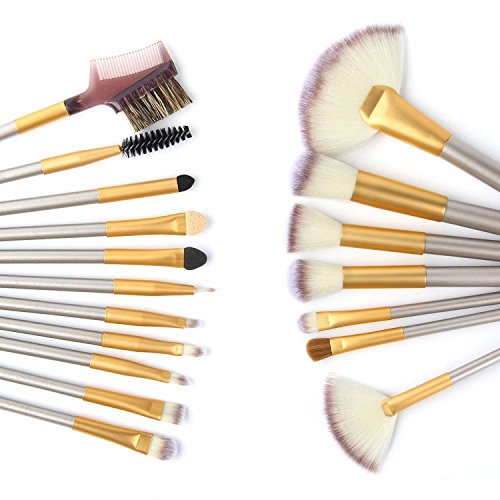 Makeup Brush Set, VANDER LIFE 18 Pieces Makeup Brushes Professional Face Eyeliner Blush Contour Foundation Cosmetic Brushes for Powder Liquid Cream