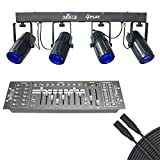 Chauvet 4Play LED Moonflower Effect Light Bar With Obey 40 DMX Controller & DMX Cable