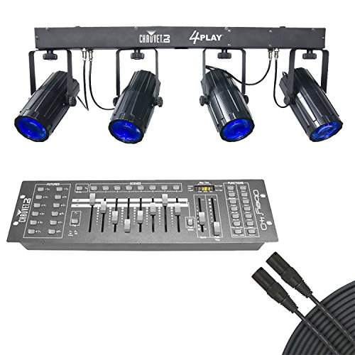 Chauvet 4Play LED Moonflower Effect Light Bar With Obey 40 DMX Controller & DMX Cable by Chauvet