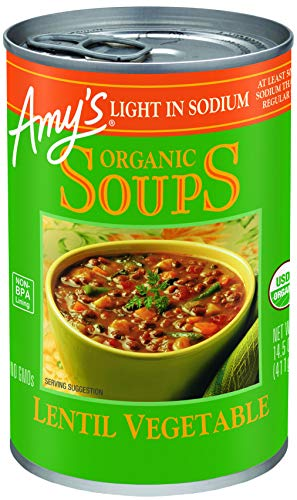Amy's Kitchen Low Sodium Lentil vegetable Soup, 14.5-ounce Cans (Pack of 12) ()