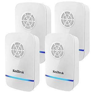 KedBrok Antizanzare Ultrasuoni, 4 Pack Repellente ad Ultrasuoni Anti Zanzare Dispositivi Antizanzare Insetti Ragni Topi Mosche Parassiti Ratti Scarafaggi Formiche