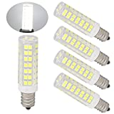75 watt ceiling fan bulbs - Ulight E12 led bulb Candelabra light bulbs 6W 650lm, jd e12 120V 60-75W halogen bulb replacement warm white for ceiling fan lighting, chandelier bulbs Pack of 4 (60W Daylight White 6000K)