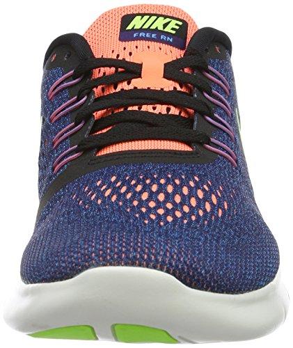 Nike Wmns Free Rn, Zapatillas de Gimnasia para Mujer Morado (Purple Dynasty / Volt / Black / Bright Mango)