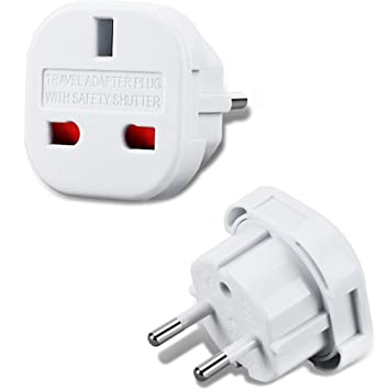 Incutex 1x Adaptador UK España, Adaptador UK EU, Adaptador Enchufe inglés a español, Blanco: Amazon.es: Electrónica