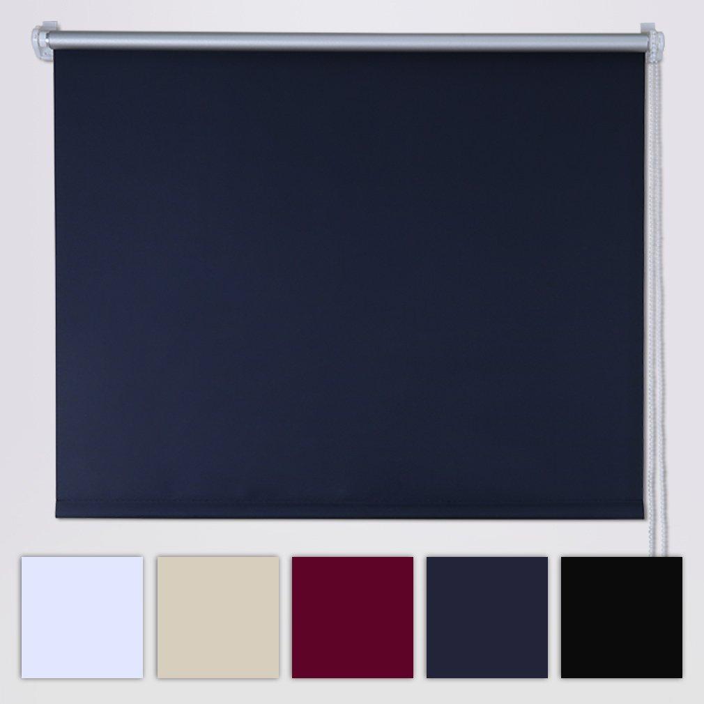 SHINY HOME Tenda a Rullo Avvolgibile Termica e Isolante Oscuranti per Finestre 80x230cm (Non serve il trapano)