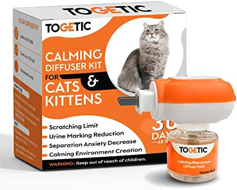 TOGETIC Cat Calming Diffuser and Refill - Long-Lasting Pheromone Calming Treats for Cats - Non-Toxic and Drug-Free Cat Stress Relief - Constant Calming and Comfort at Home